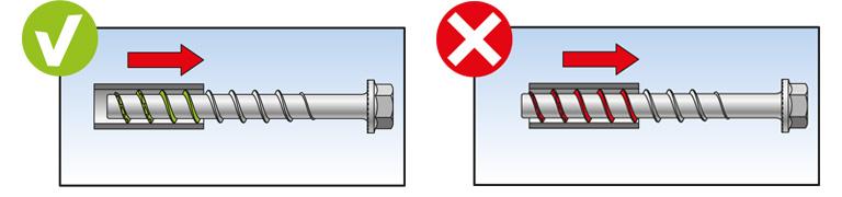 Tornillo de hormig/ón para fijaci/ón de rieles perfiles de metal 100 unidades N/úmero de referencia 546395 Fischer ULTRACUT FBS II 6 x 25 M8//19 tuber/ías en hormig/ón